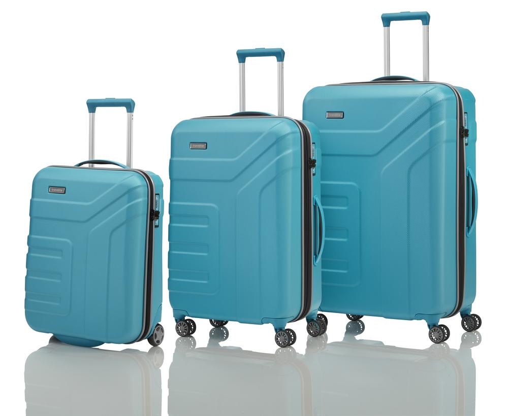 Travelite Vector 2w S, 4w M,L Turquoise – sada 3 kufrů
