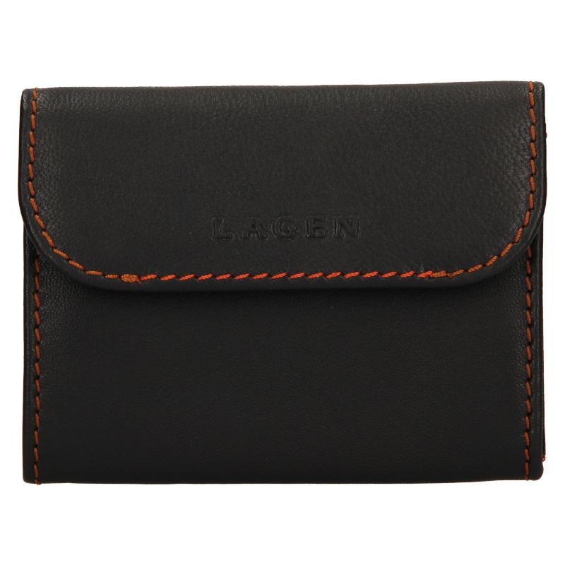 E-shop Lagen Pánská peněženka kožená TP 814 Tmavě hnědá