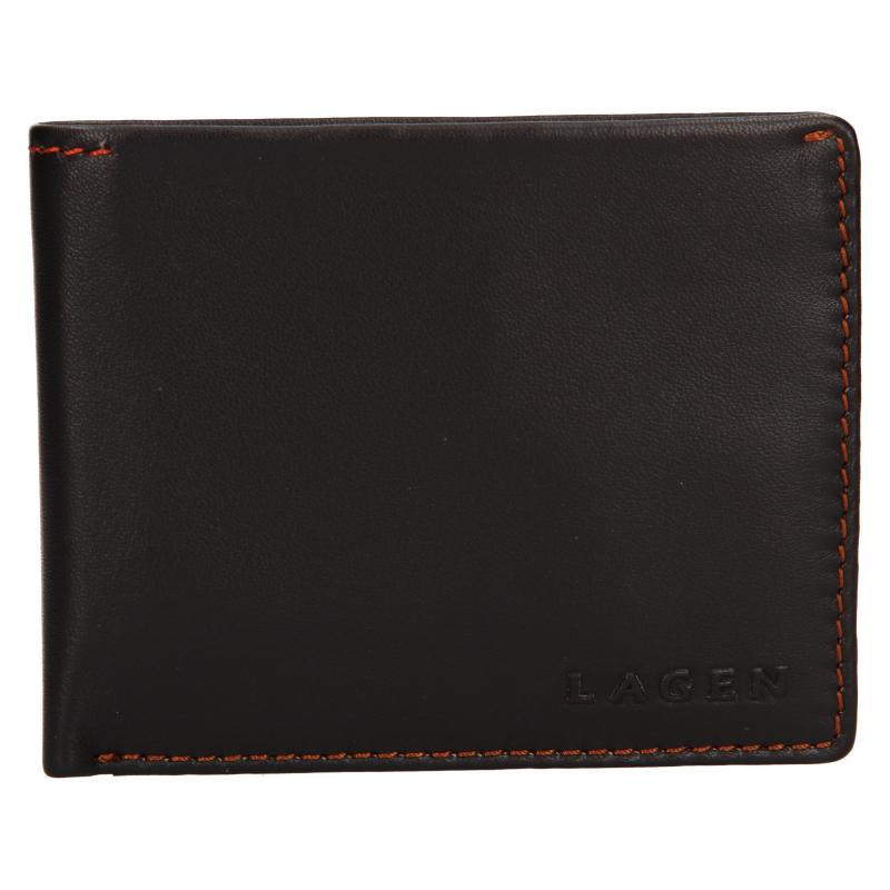 Lagen Pánská peněženka kožená TP 802 Tmavě hnědá