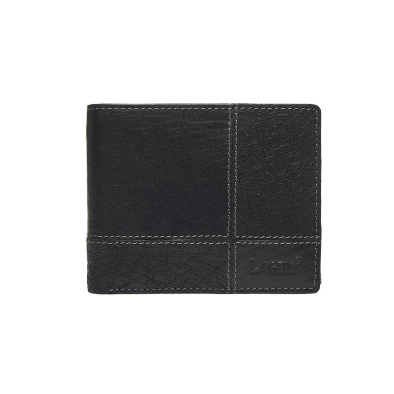 Lagen Pánská peněženka kožená 2108/T Černá