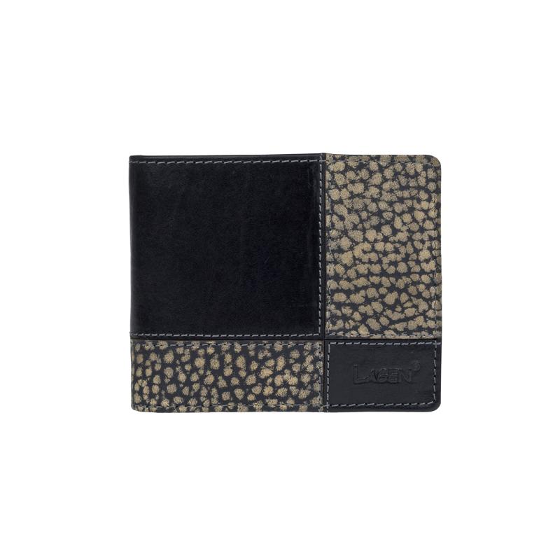 Lagen Pánská peněženka kožená 2108/TP Černá