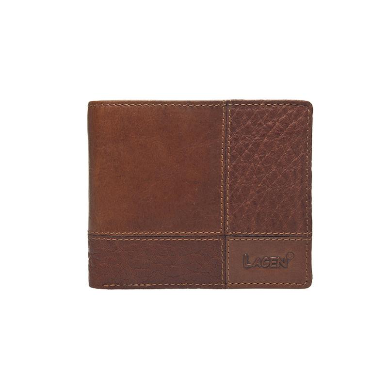Lagen Pánská peněženka kožená 2108/V Hnědá