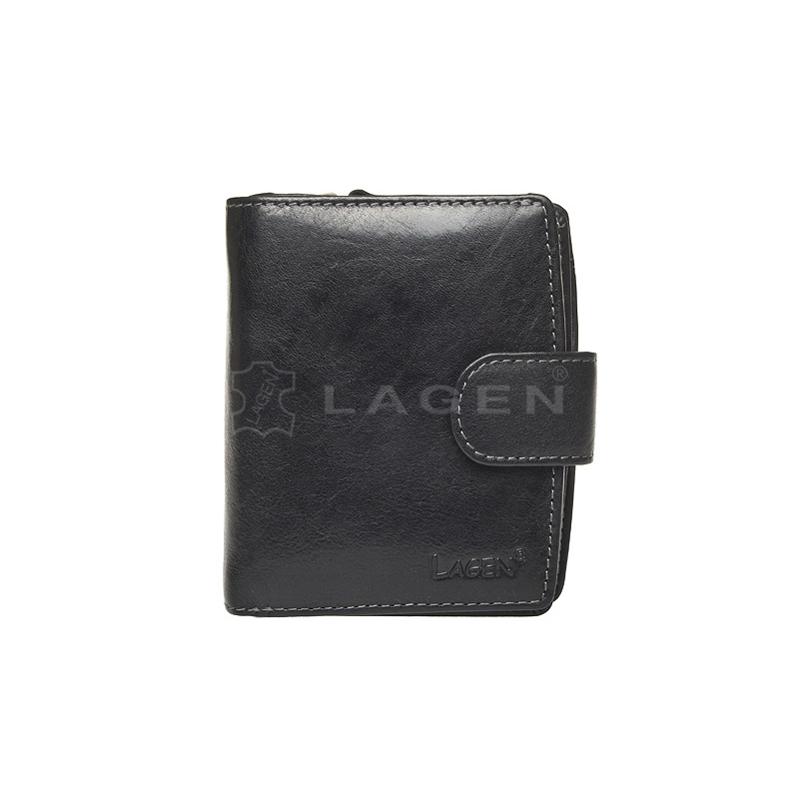 Lagen Dámská peněženka kožená 3807/T Černá