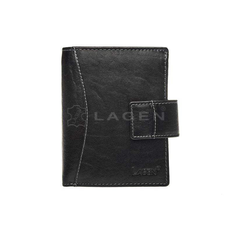 Lagen Dámská peněženka kožená 3808/T Černá