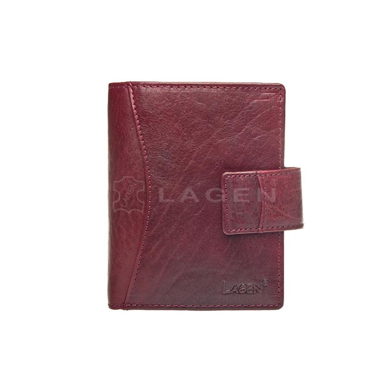 Lagen Dámská peněženka kožená 3808/T Vínová