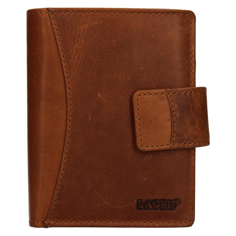 Lagen Dámská peněženka kožená 3808/V Hnědá