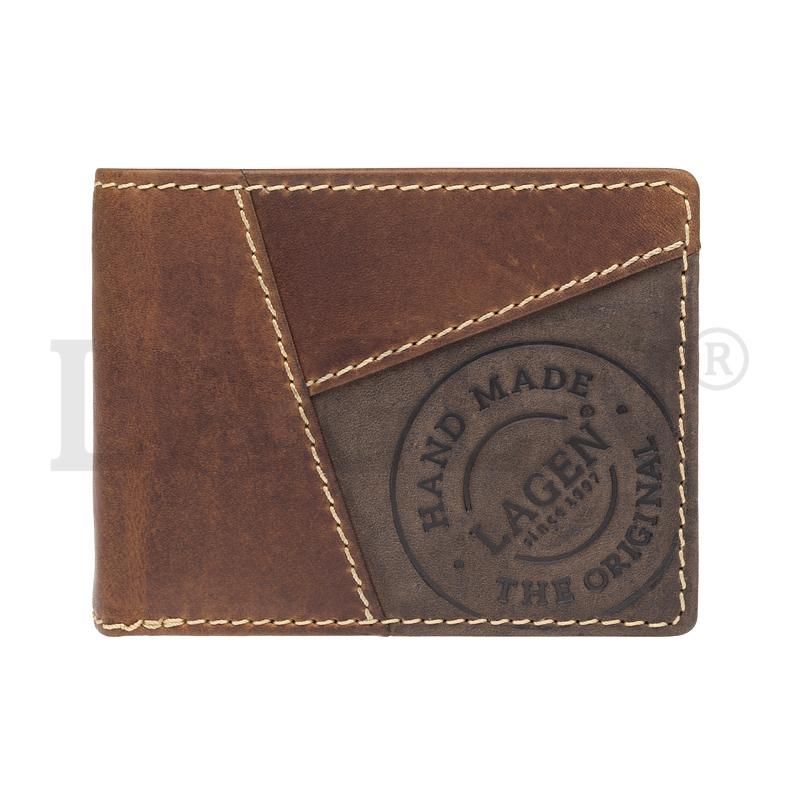 Lagen Pánská peněženka kožená 511451 Světle hnědá