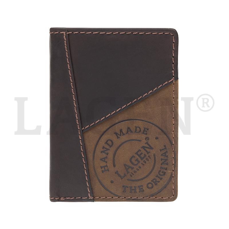 Lagen Pánská peněženka kožená 51145 Hnědá