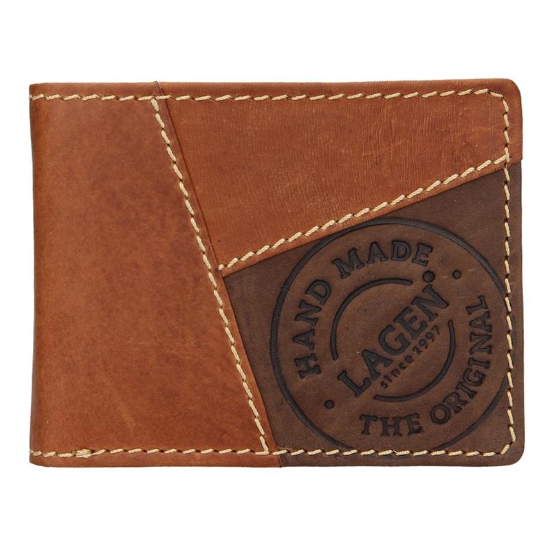 Lagen Pánská peněženka kožená 51148 Světle hnědá