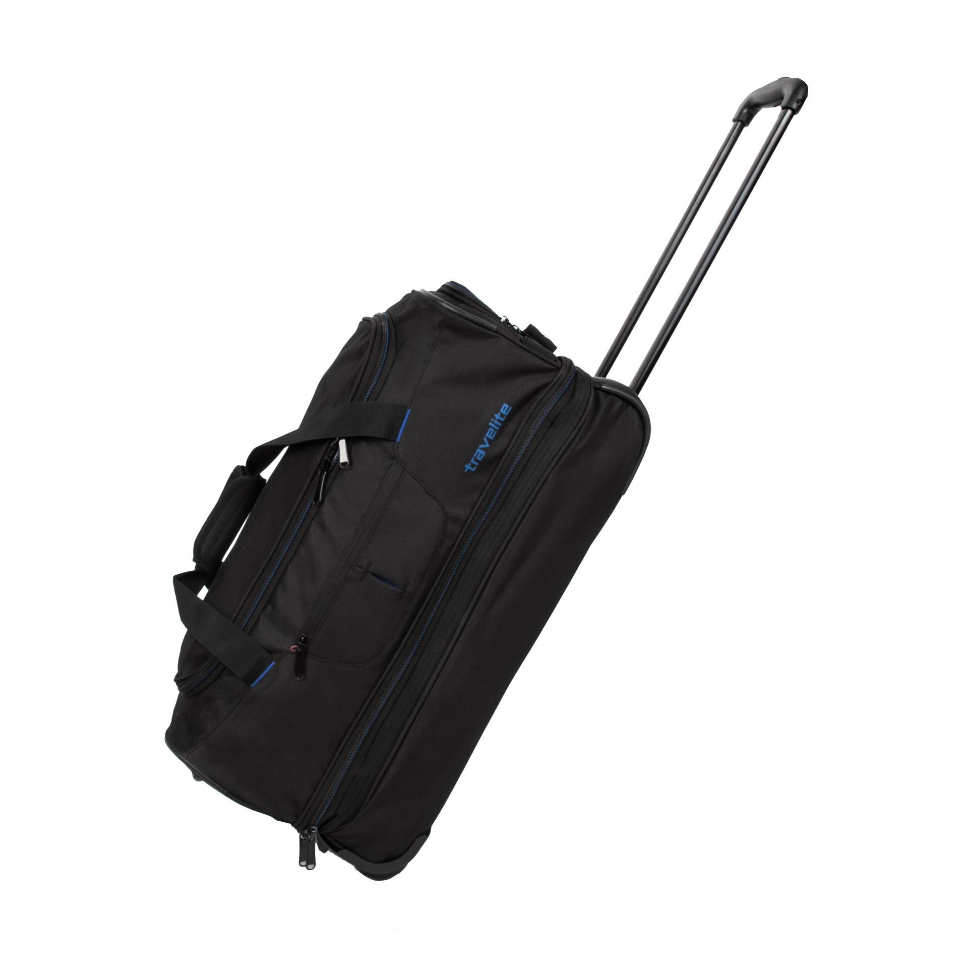 Travelite Basics Wheeled duffle S Black/blue Travelite