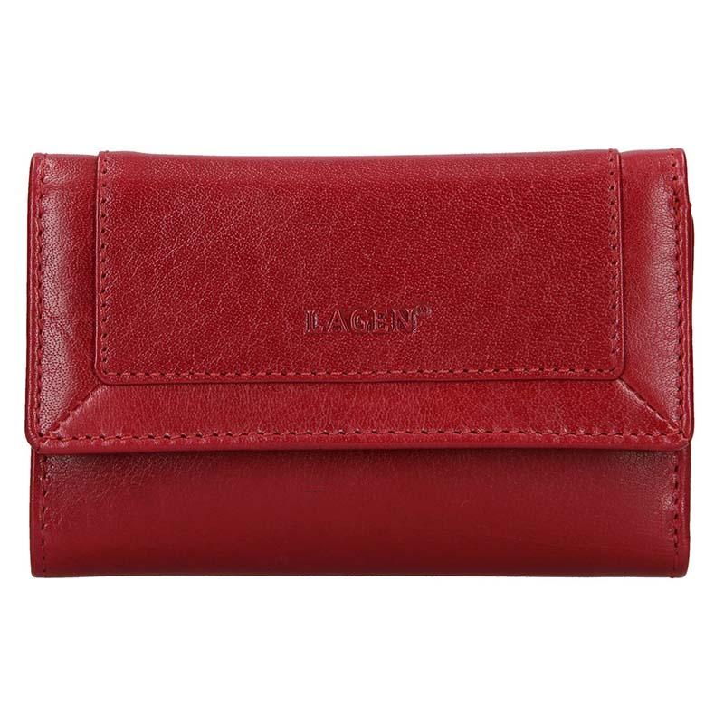Lagen Dámská peněženka kožená BLC/4390 Červená/červená