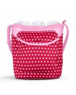 Built Three Baby Bottle Tote Baby Pink Mini Dots