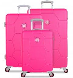 SUITSUIT TR-1248/3 Caretta Hot Pink – sada 3 kufrů