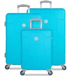SUITSUIT TR-1250/3 Caretta Peppy Blue – sada 3 kufrů