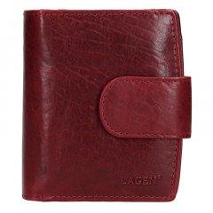 Lagen Dámská peněženka kožená 3807/T Vínově červená
