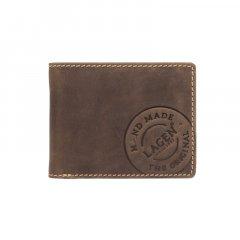 Lagen Pánská peněženka kožená 5081/H Tmavě hnědá