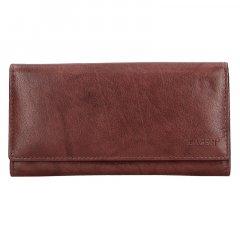 Lagen Dámská peněženka kožená V13 Hnědá