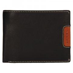 Lagen Pánská peněženka kožená 615195 Černá/Světle hnědá