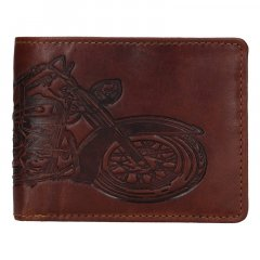 Lagen Pánská peněženka kožená 6535 Hnědá