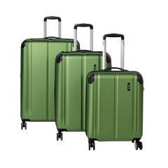 Travelite City 4w S,M,L Green – sada 3 kufrů