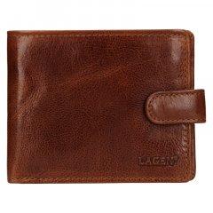 Lagen Pánská peněženka kožená E1036/T Světle hnědá