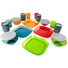GSI Outdoors Infinity 4 Person Deluxe Tableset, Multicolor