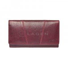 Lagen Dámská peněženka kožená PWL-388/T Vínová