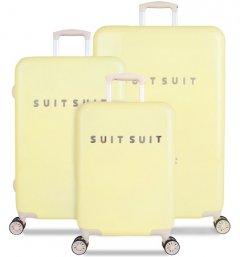 SUITSUIT TR-1220/3 sada 3 kufrů ABS Fabulous Fifties Mango Cream