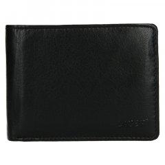 Lagen Pánská peněženka kožená V-76 Černá