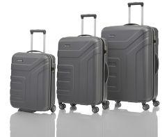 Travelite Vector 2w S, 4w M,L Anthracite – sada 3 kufrů