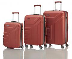 Travelite Vector 2w S, 4w M,L Coral – sada 3 kufrů