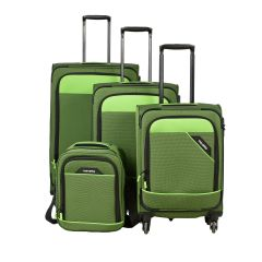 Travelite Derby 4w S,M,L Green – sada 3 kufrů + Board Bag