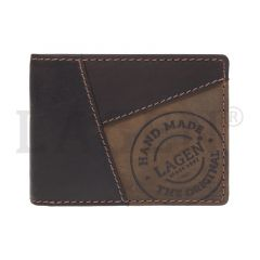 Lagen Pánská peněženka kožená 511451 Hnědá