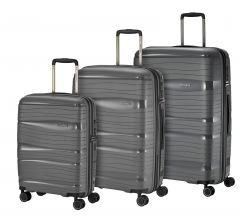 Travelite Motion S,M,L Anthracite – sada 3 kufrů