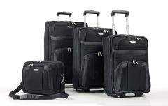 Travelite Orlando S,M,L – sada 3 kufrů + Boarding Bag Black