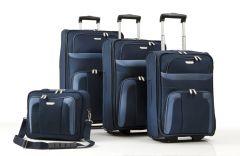 Travelite Orlando S,M,L – sada 3 kufrů + Boarding Bag Navy