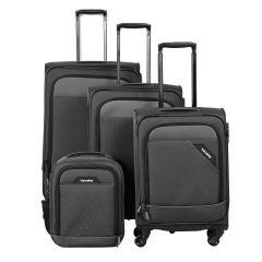 Travelite Derby 4w S,M,L Anthracite – sada 3 kufrů + Board Bag