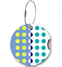 Addatag Jmenovka na kufr Multi Dots Blue