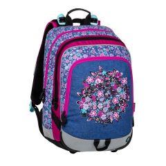 školní batoh Bagmaster Alfa 20 A Blue/pink/white