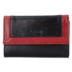 Lagen Dámská peněženka kožená BLC/4390 Černá/červená
