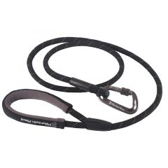 Mountain Paws Rope Dog Lead 11mm black 130 cm
