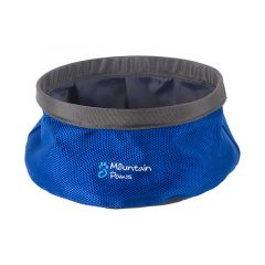 Mountain Paws Dog Water Bowl 170 mm blue small