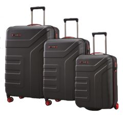 Travelite Vector 2w S, 4w M,L Black – sada 3 kufrů