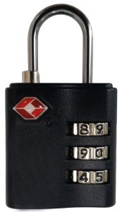 Vaude TSA Combination Lock Silver/black