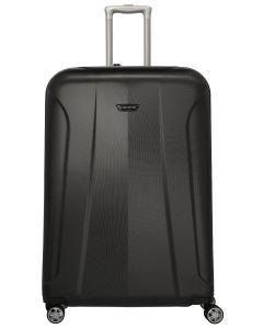 šedý skořepinový kufr Travelite Elbe 4w XL Anthracite