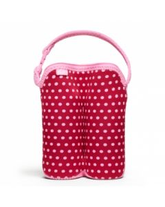 Built Bottle Buddy - Two Bottle Tote - Baby Pink Mini Dots