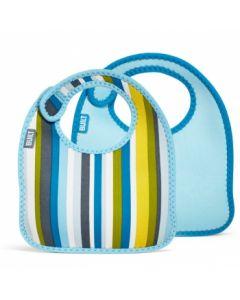 Built Infant Bib Baby Blue Stripe