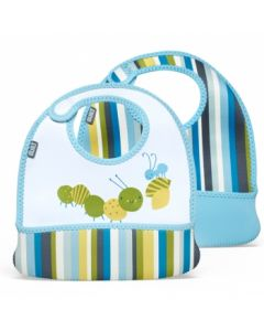Built Toddler Bib Baby Blue Stripe