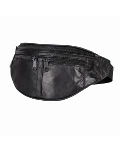Travelite Leather Waist Bag Black 02