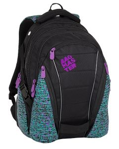 Bagmaster Bag 8 C Black/white/violet